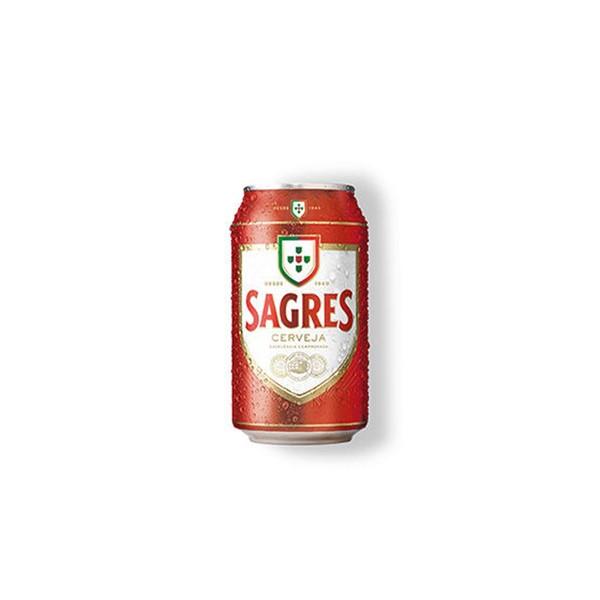 Cerveja Sagres Lata 33Cl