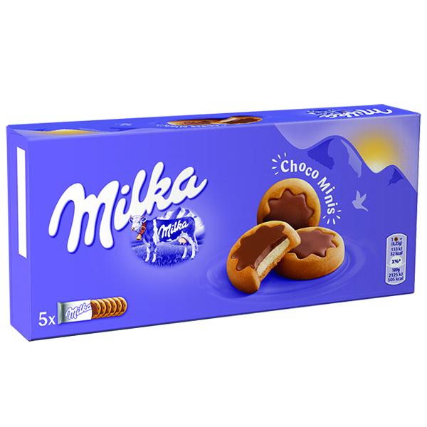 Bolacha Milka Minis Choco Leite 185G