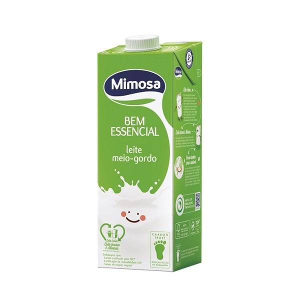 Leite Uht Meio Gordo 1L Mimosa