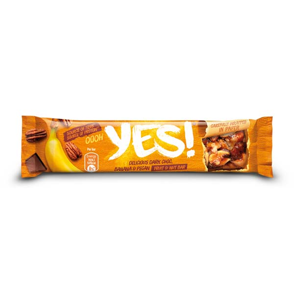 Barra Yes Noz Pecan e Banana 35G