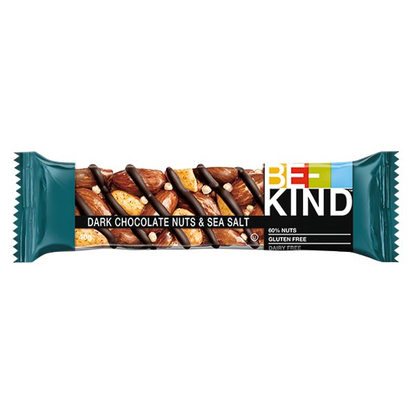 Barra Be-Kind Chocolate Negro e Sal Marinho 40G
