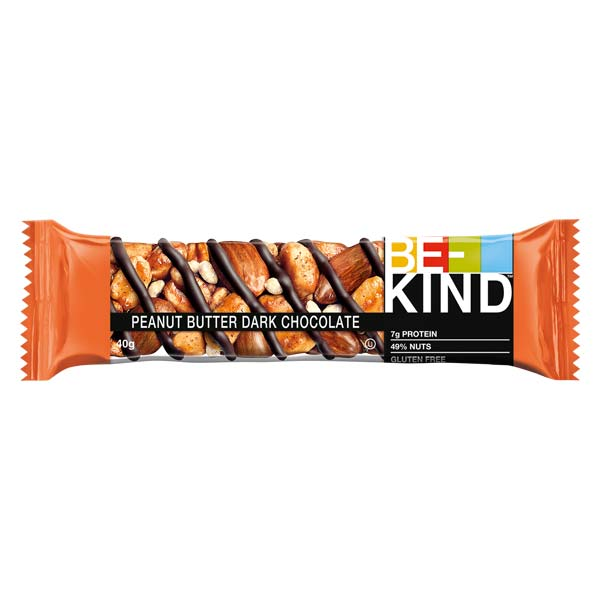 Barra Be-Kind Manteiga Amendoim Chocolate Negro 40G