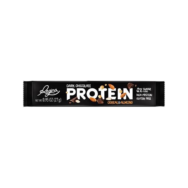 Chocolate preto Cereal&Almond Proteína Regina 27G